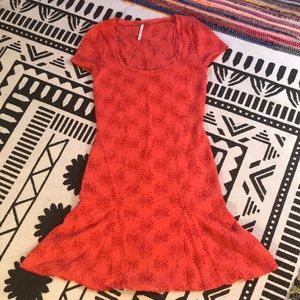 Free people dress coral size xs